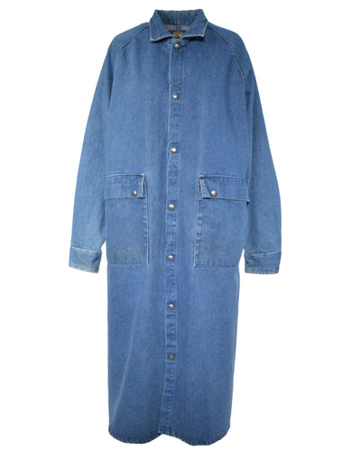 DENIM OVERCOAT - WOMEN'S SIZE M