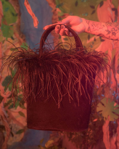 FEATHER TRIM BAG