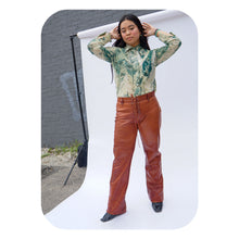 COGNAC LEATHER PANT - WOMEN'S SIZE M