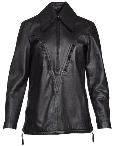 LEATHER HALF ZIP - WOMEN'S SIZE M
