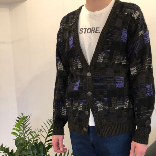 PATTERNED CARDIGAN - MEN'S SIZE L