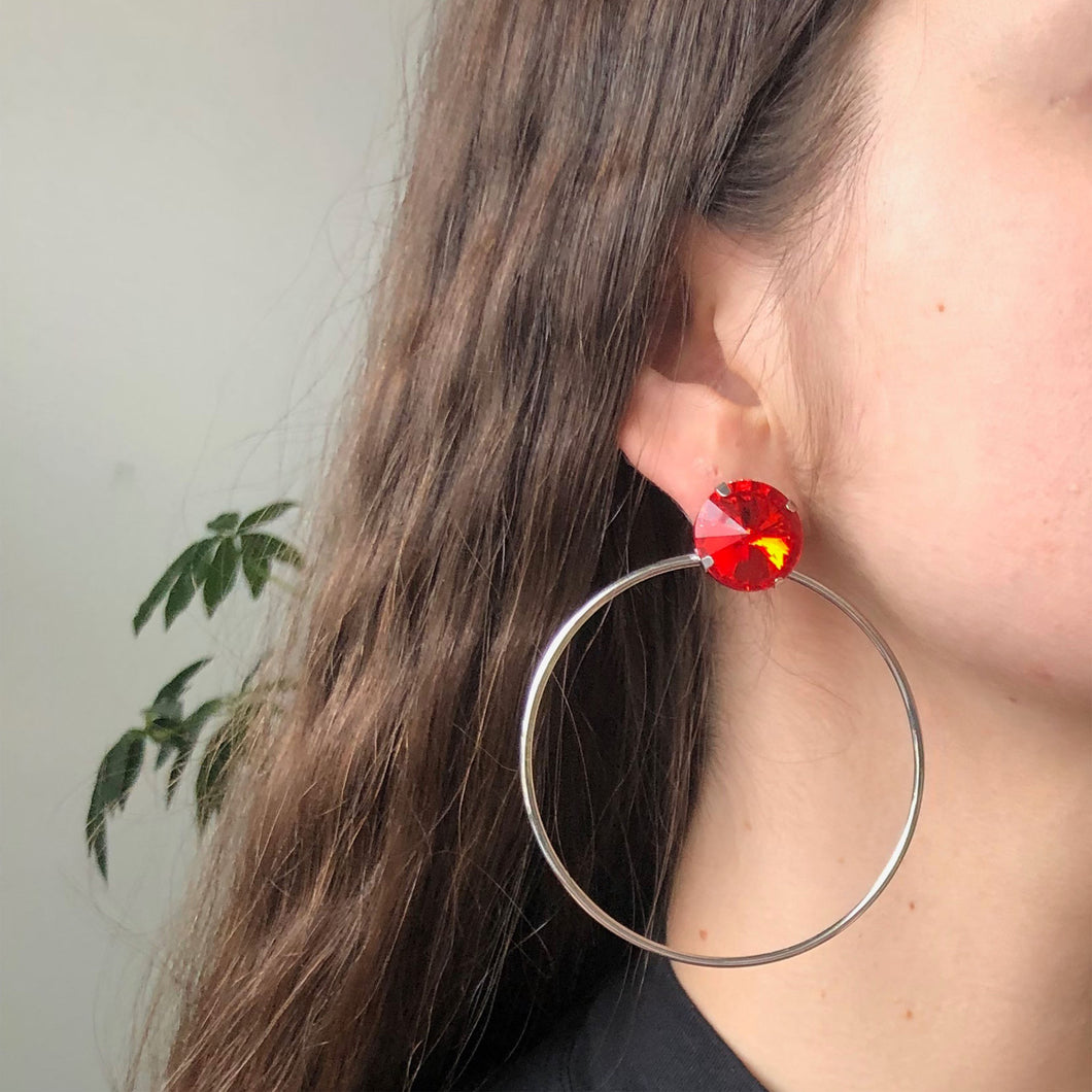RED GEM HOOP