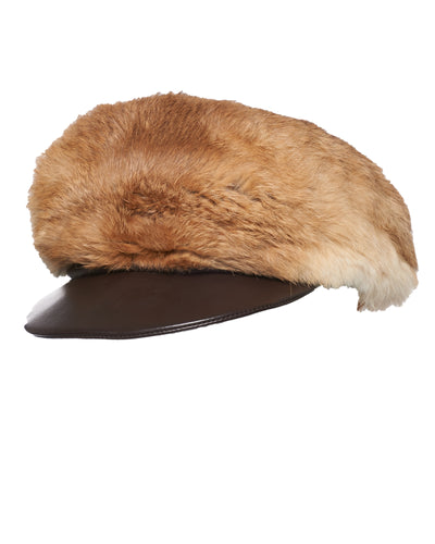 FUR NEWSBOY CAP