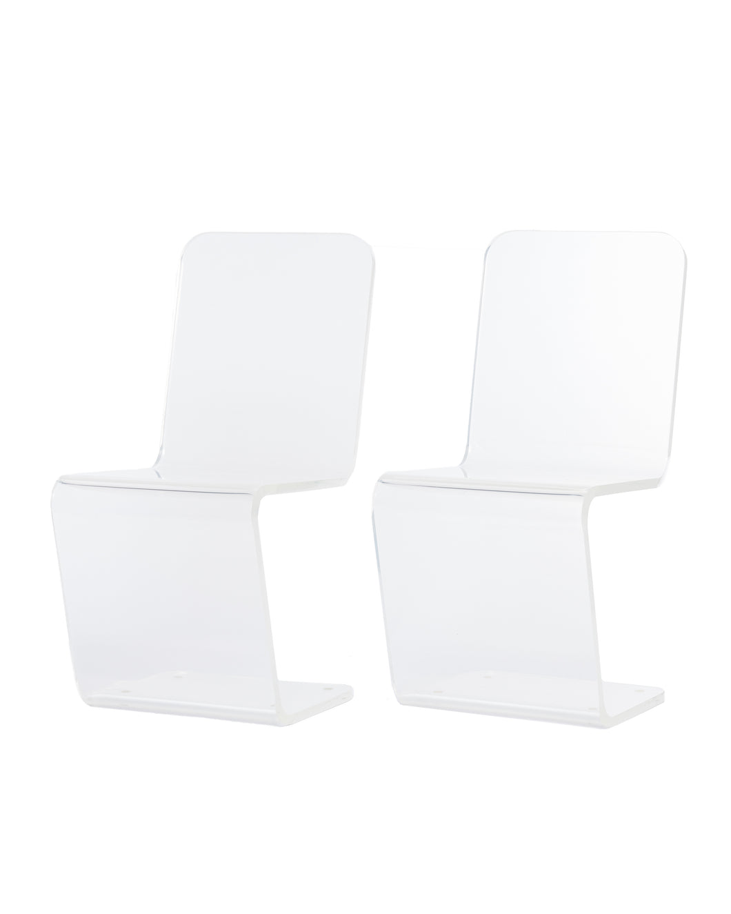 LUCITE CHAIR SET