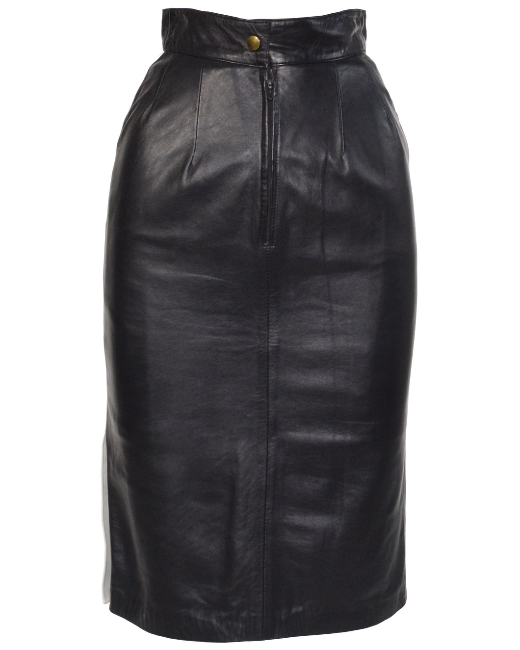 SAKS LEATHER PENCIL SKIRT - WOMEN'S SIZE FR36