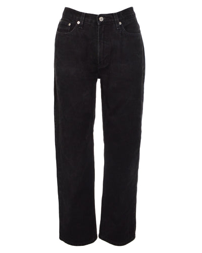 TOMMY HILFIGER BLACK DENIM - WOMEN'S SIZE L