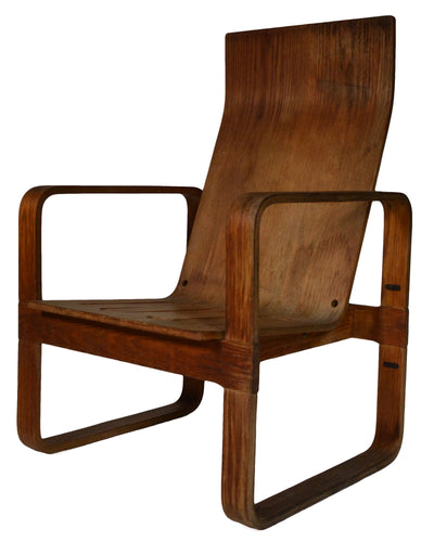 THONET BENT PLYWOOD ARMCHAIR