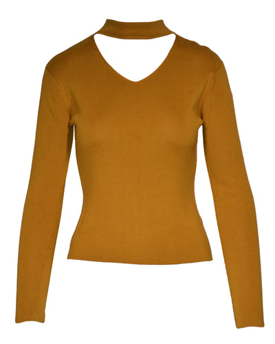 CUTOUT TURTLENECK - WOMEN'S SIZE S