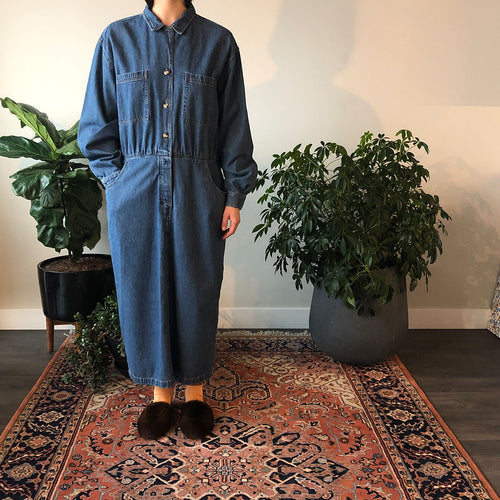 DENIM DRESS - WOMEN'S SIZE L/XL