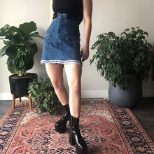 REWORKED DENIM NOTCH SKIRT - WOMEN'S SIZE S