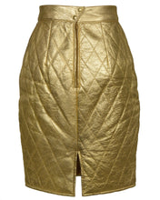 QUILTED METALLIC SKIRT - WOMEN'S SIZE S