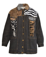 DENIM JUNGLE JACKET - WOMEN'S SIZE S