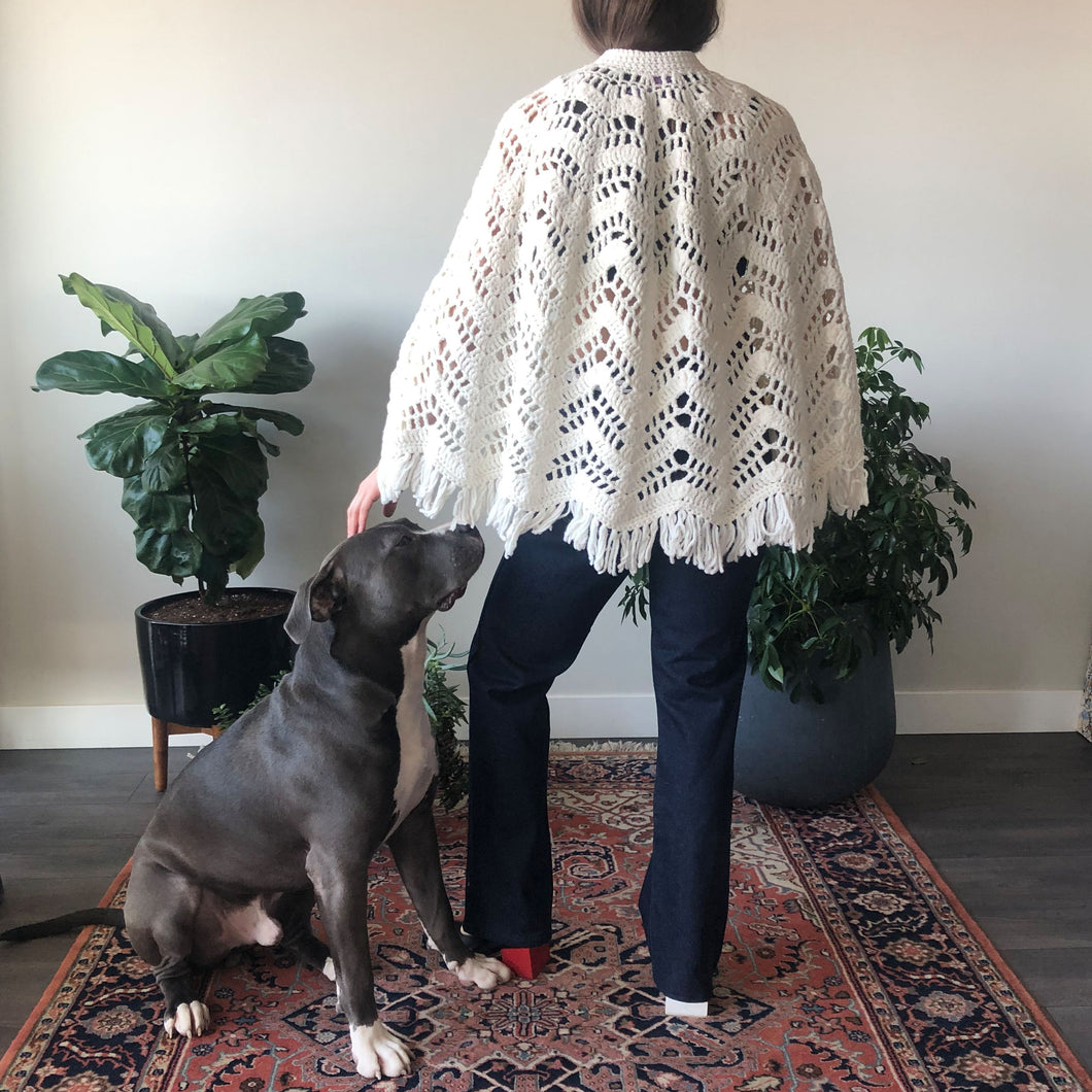 KNIT PONCHO - ONE SIZE