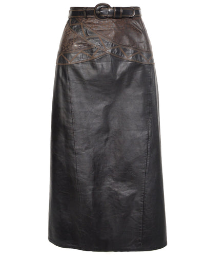 TWO TONE LEATHER MIDI - WOMEN'S SIZE L