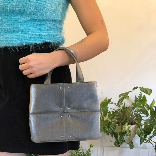 METALLIC HANDLE BAG