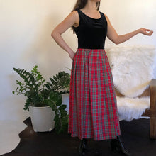 PLAID VELVET MAXI - WOMEN'S SIZE M/L