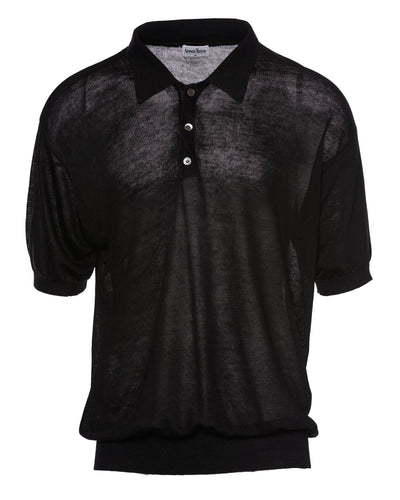 NEIMAN MARCUS SHEER POLO - MEN'S SIZE M