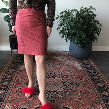 EMBROIDED PENCIL SKIRT - WOMEN'S SIZE XS