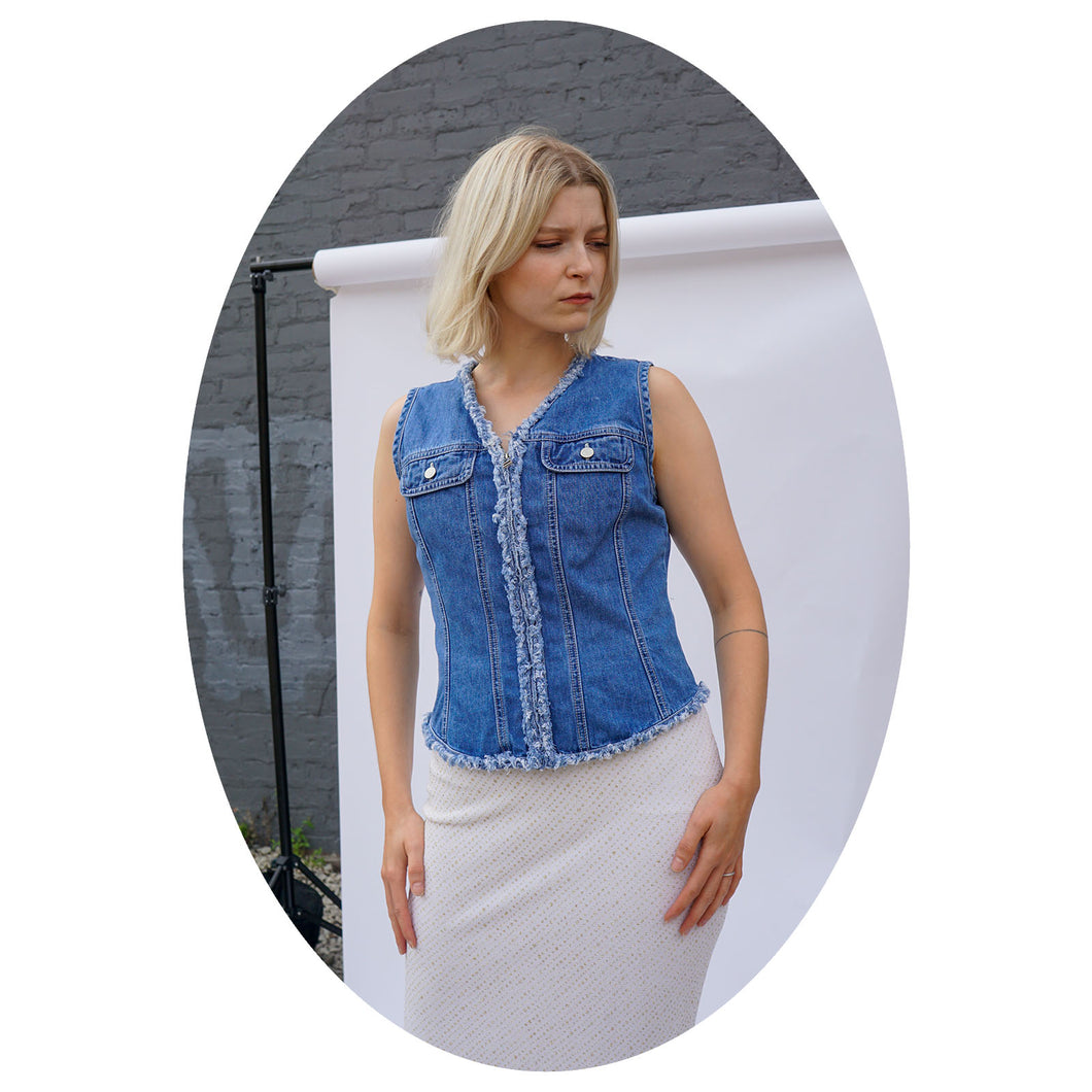 DENIM VEST - WOMEN'S SIZE S