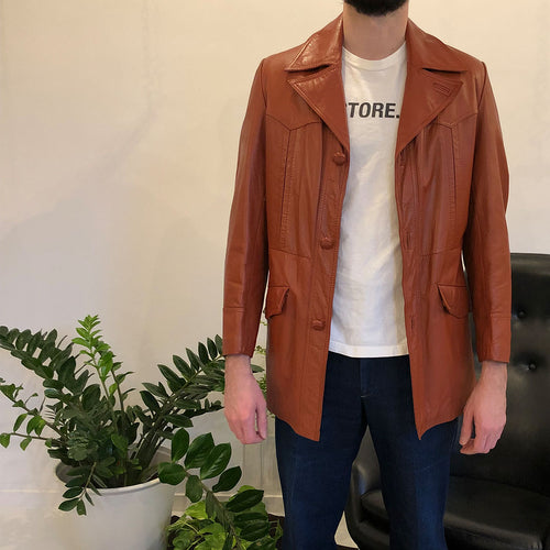 WESTERN LEATHER JACKET - MEN'S SIZE 38