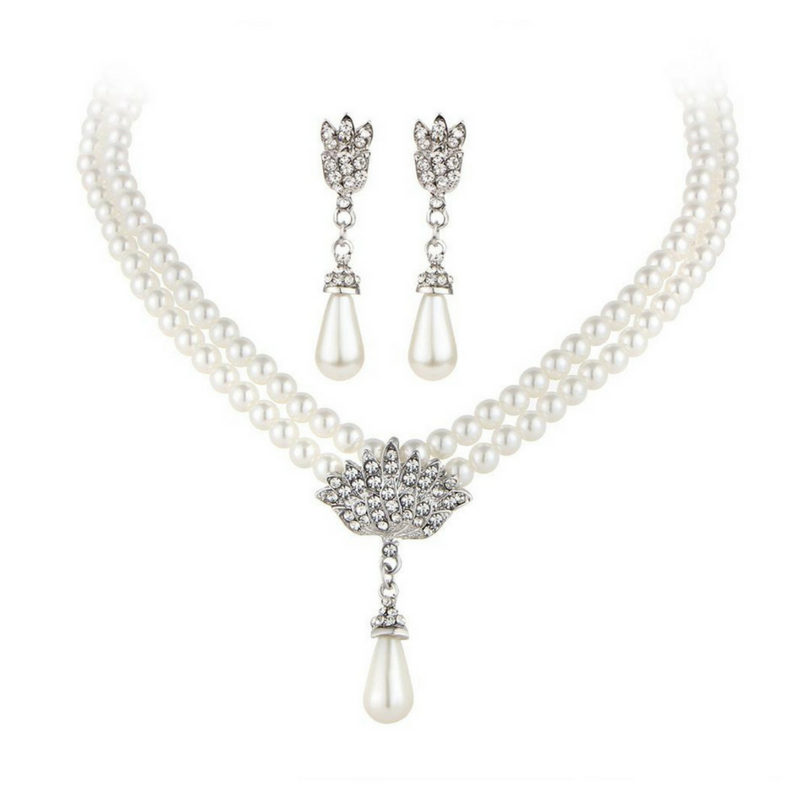 The Pearl & Crystal Set - Panache Exclusive Jewelry