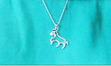 The Sterling Silver Pony Pendant - Panache Exclusive Jewelry