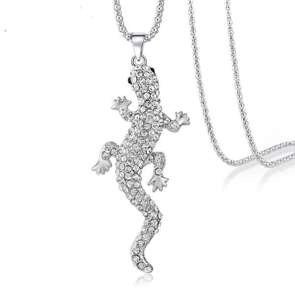 The Crystal Lizard Pendant - Panache Exclusive Jewelry