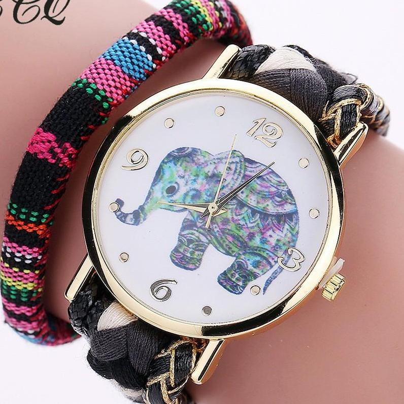 The Bohemian Elephant Bracelet Watch - Panache Exclusive Jewelry