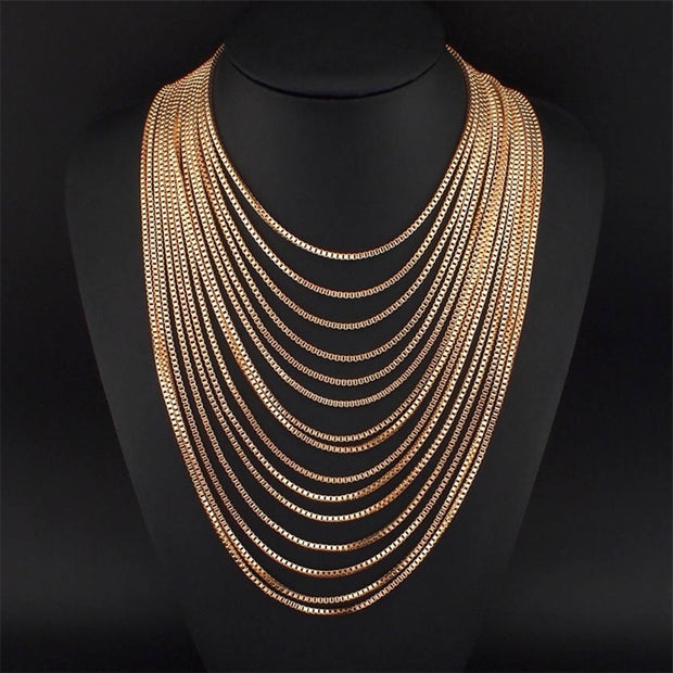 The Adonia Layered Chain Necklace - Panache Exclusive Jewelry