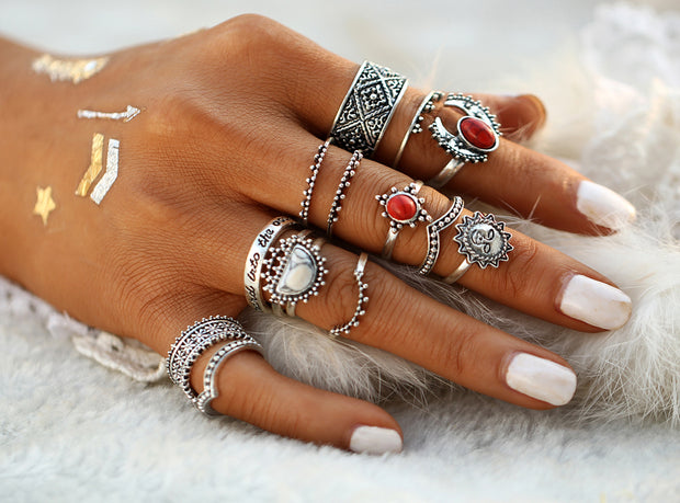 The Sadiye Midi Ring Set - Panache Exclusive Jewelry