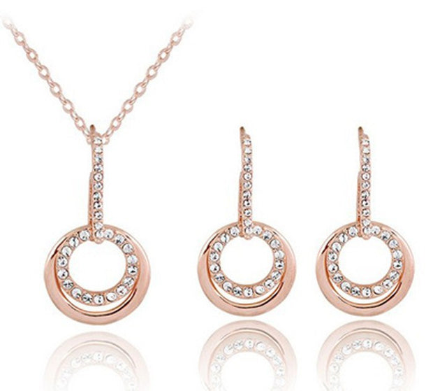 The Double Circle Set - Panache Exclusive Jewelry