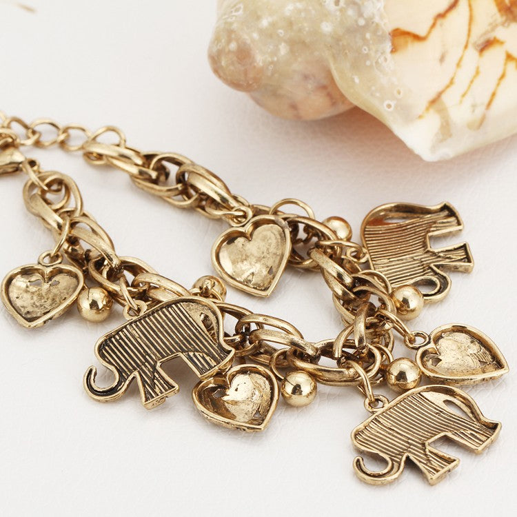 The Elephant Charm Bracelet - Panache Exclusive Jewelry