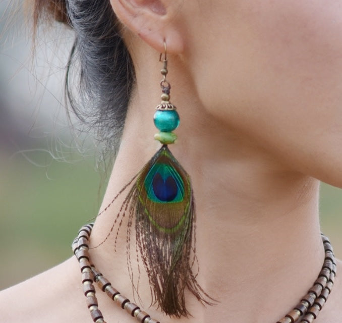 The Chandra Peacock Earrings