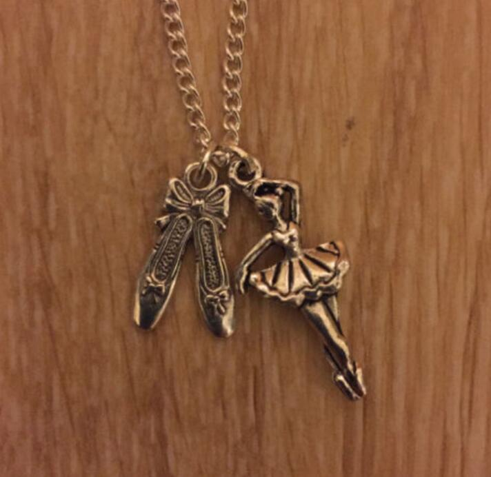 Ballet Shoes and Dancer Pendant Necklace - Panache Exclusive Jewelry