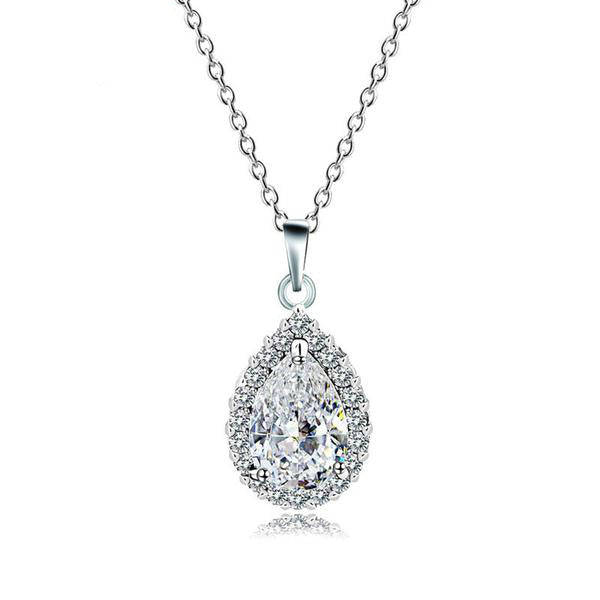 The Crystal Teardrop Pendant - Panache Exclusive Jewelry