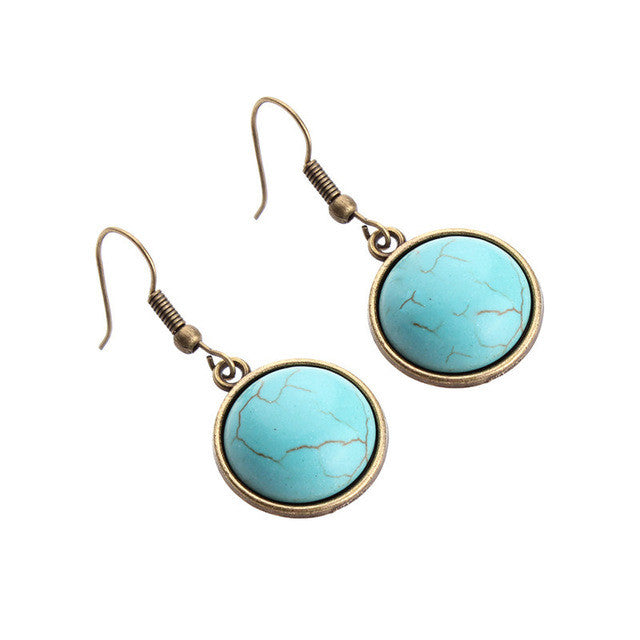 The Southwest Turquoise Drops - Panache Exclusive Jewelry