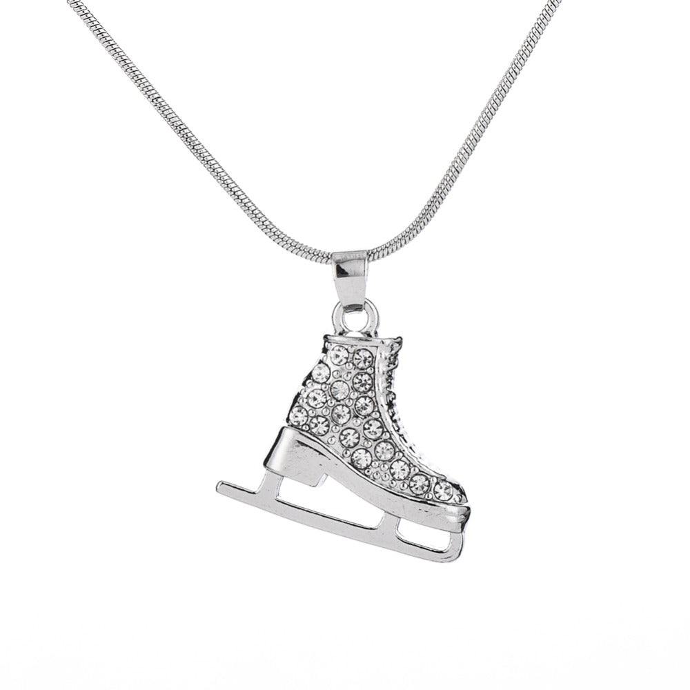 The Crystal Ice Skate Pendant - Panache Exclusive Jewelry