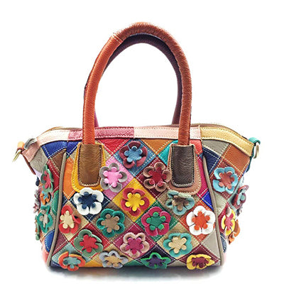 The Dreamer Floral Leather Handbag - Panache Exclusive Jewelry