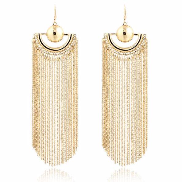 The Calla Chain Earrings - Panache Exclusive Jewelry