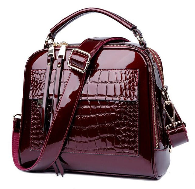 The Lou Lou Patent Leather Bag - Panache Exclusive Jewelry