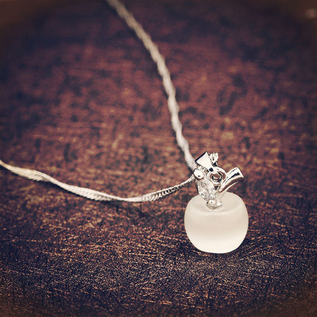 The Little Apple Pendant Necklace - Panache Exclusive Jewelry
