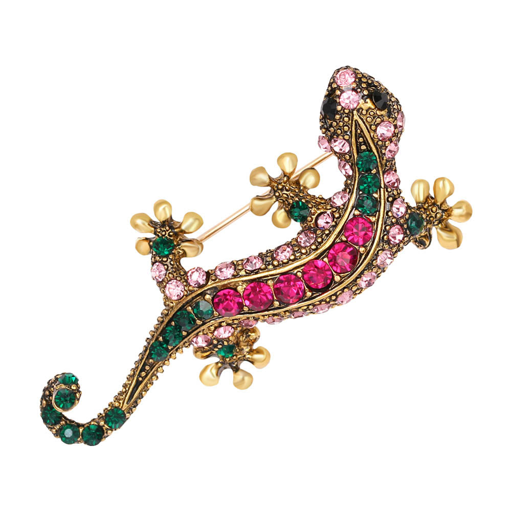 The Whimsical Lizard Pin - Panache Exclusive Jewelry