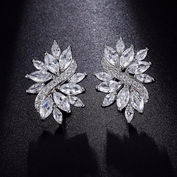 Earrings Delicate AAA+ Marquise Cut Cubic Zircon Crystal Handmade Fashiona and bridal earrings
