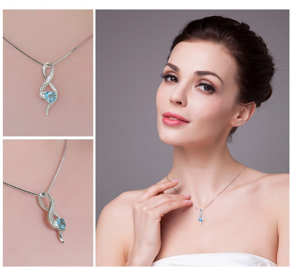 The Topaz Heart Necklace - Panache Exclusive Jewelry