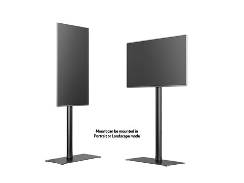 M Display Stand 180 Single Black w. Floorbase