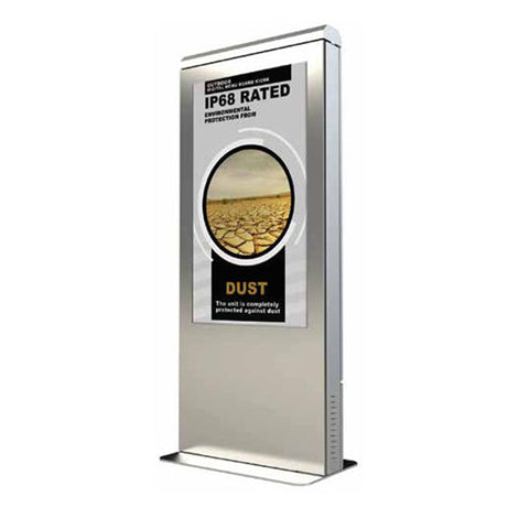 "Xtreme™ Outdoor Portrait Kiosk With a 49"" or  55"" Optically Bonded Peerless-AV Xtreme™ Display"