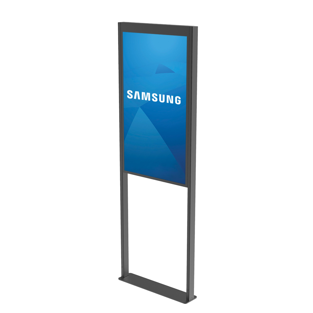 Peerless-AV Floor Window Display Mount for SAMSUNG OM46N-D and OM55N-D double-sided displays
