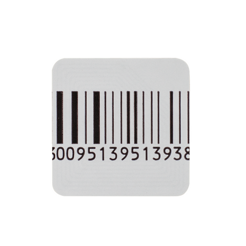 SENSORMATIC RF 40X40MM LABELS - MOCK BARCODE - ROLL OF 2,000