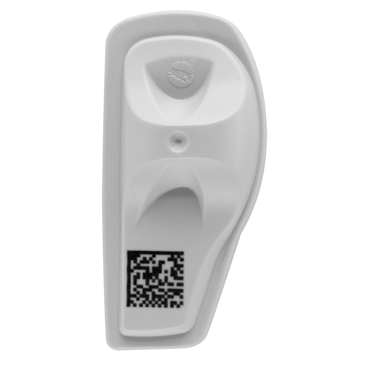 Sensormatic SuperTag AM/RFID 2D Barcode Tag