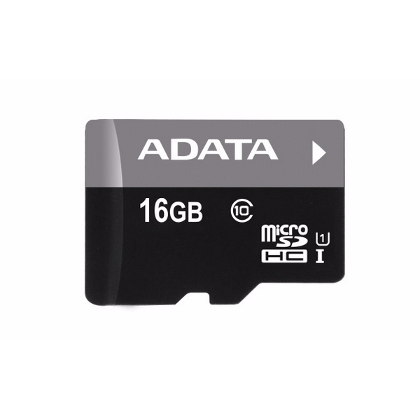 A-DATA 16GB Premier microSDHC UHS-I U1 Card (Class 10) with 1 Adapter, retail - mikro SD kortelė